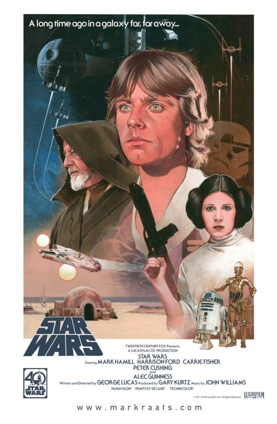 Star Wars  40th Anniversary Poster - Image courtesy of Mark Raats