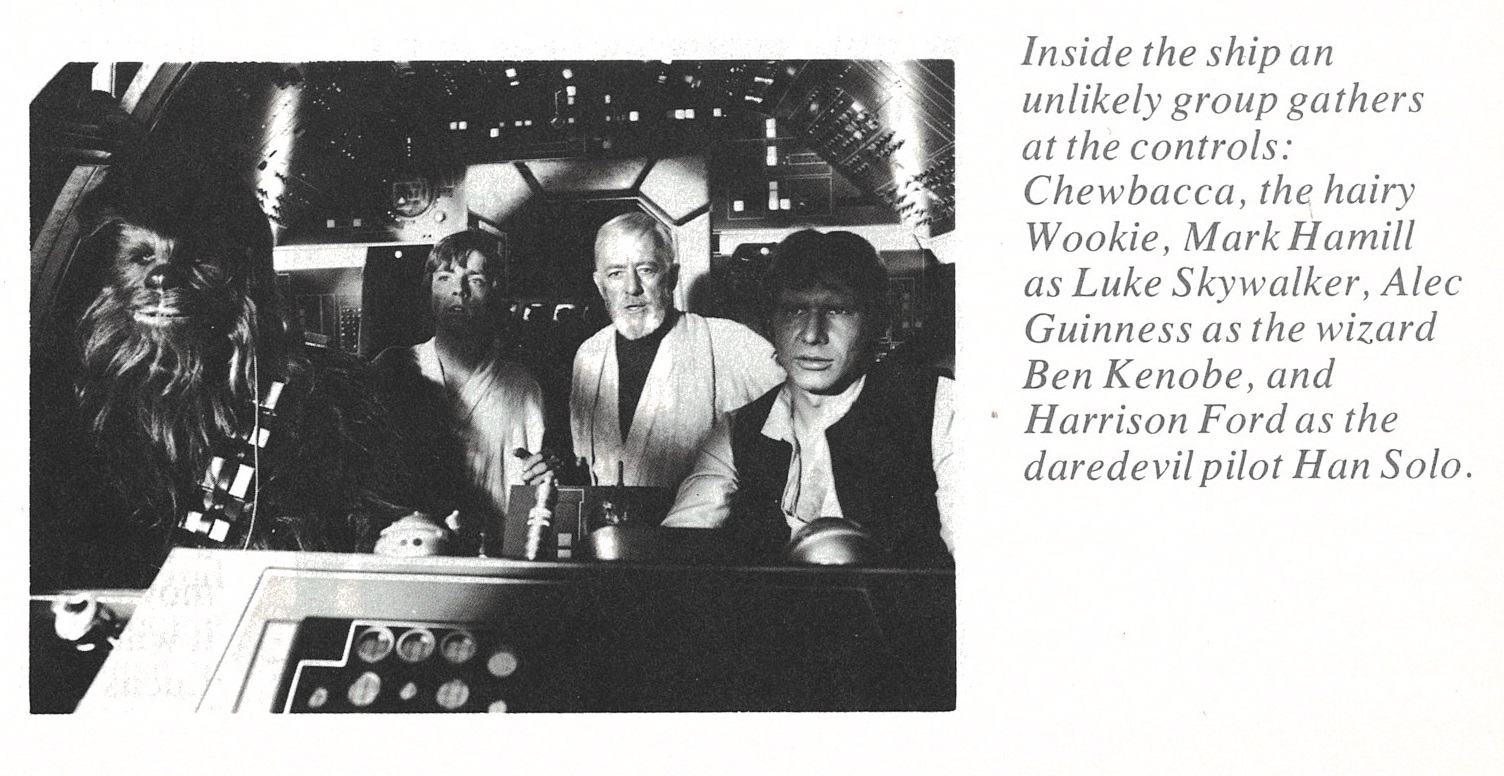 "Early misnomers such as the commonly misspelled ""Wookie"" and the wizard ""Ben Kenobe."""