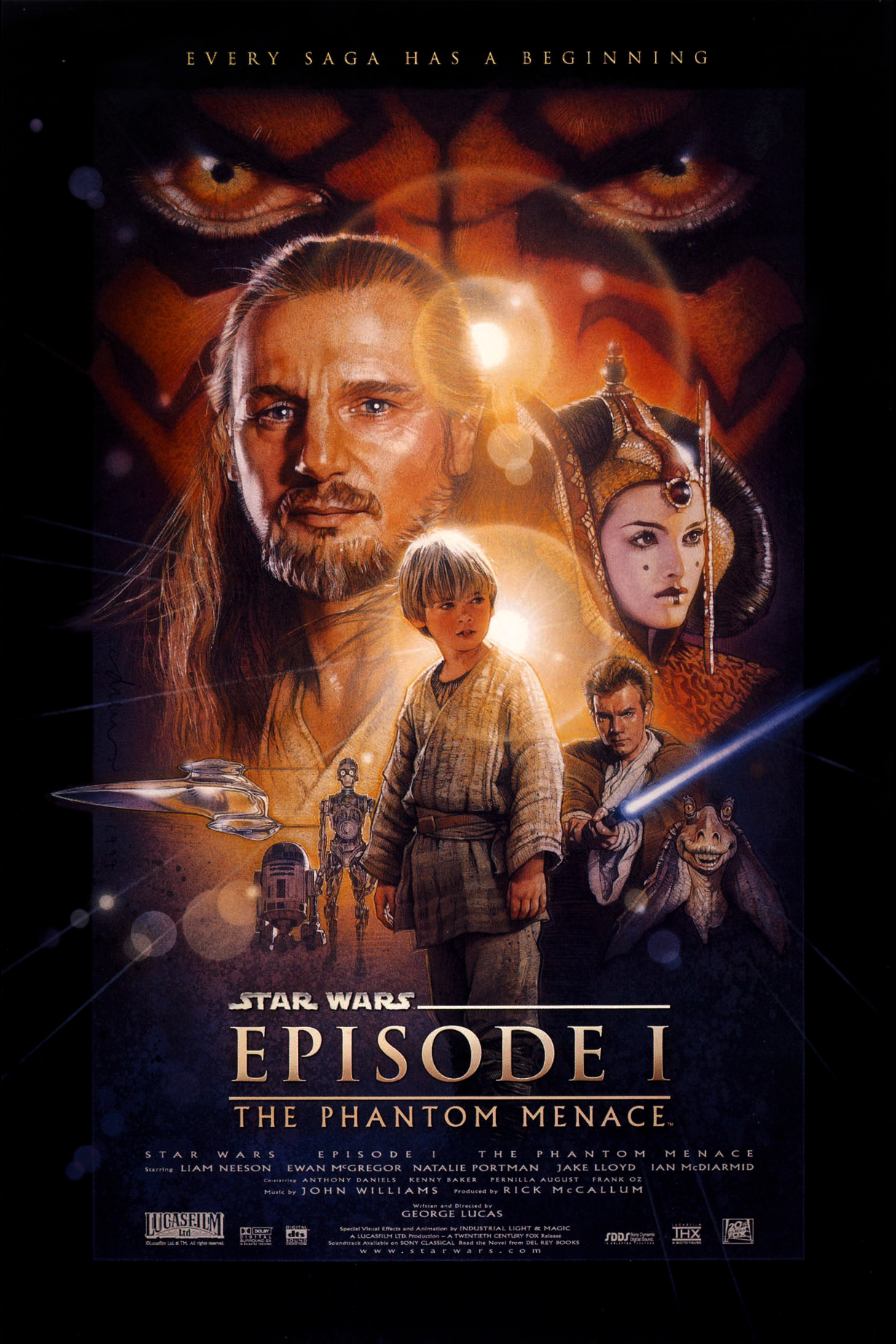The Phantom Menace  U.S. Theatrical One Sheet - Source:  Wookieepedia