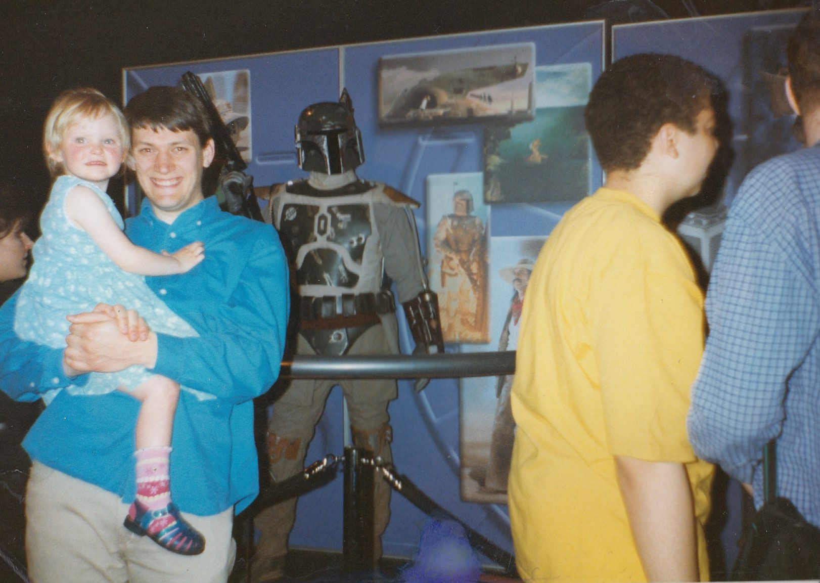 "Richard Hutchinson attending the ""Power of Myth"" Exhibition which toured in support of  The Phantom Menace  in the UK."