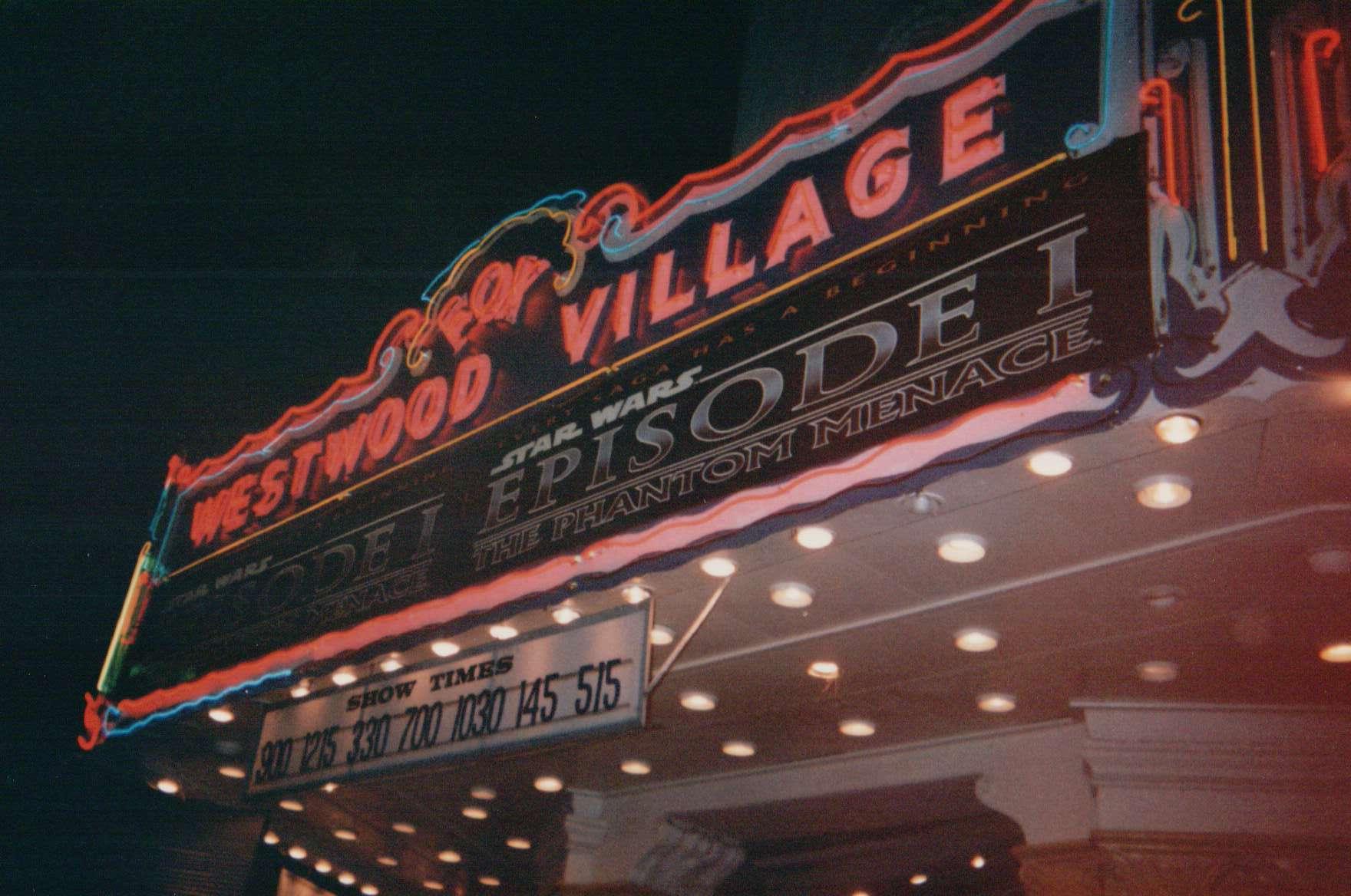 Westood Village Marquee - Courtesy of Brennan Swain