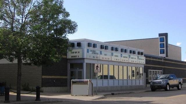 The May Cinema Center in the Saskatchewan side of Lloydminster, where Tyler Harper saw  The Phantom Menace  - via CinemaTreasures.org