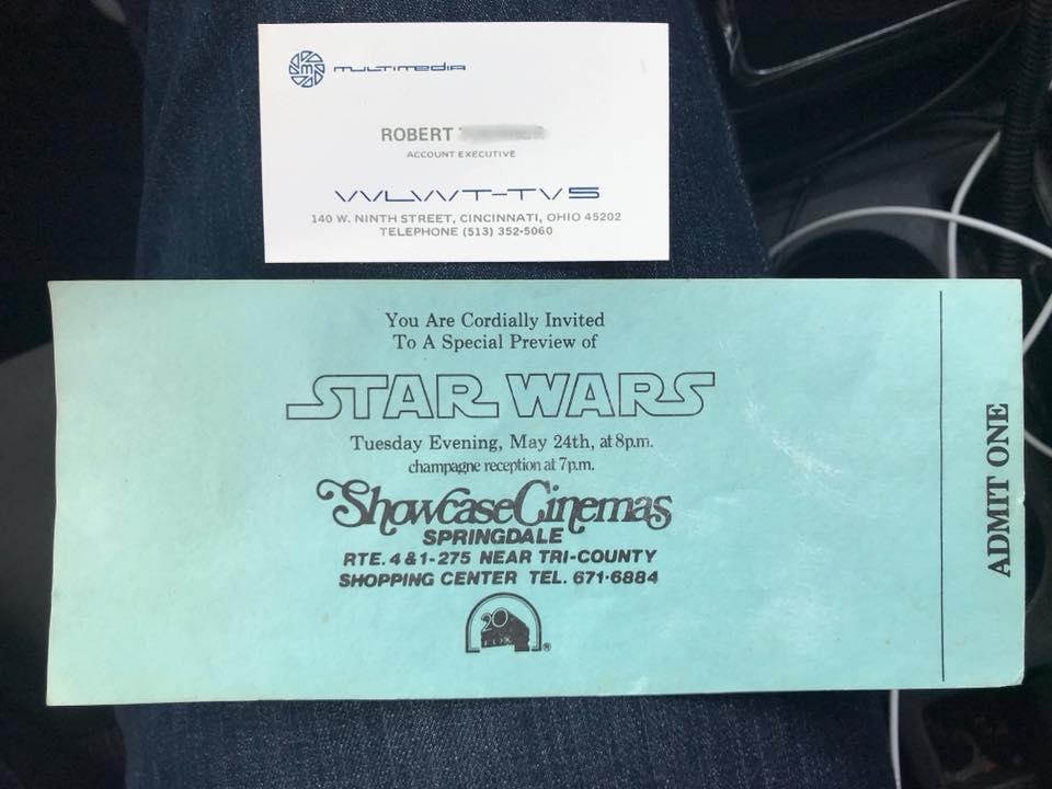 Star Wars press preview screening invitation (May 24th, 1977) - Courtesy of Sean Lehmkuhl