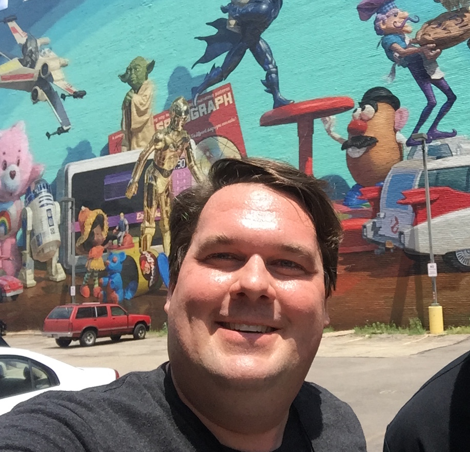 Dave Brott at the Kenner mural in Cincinnati, OH