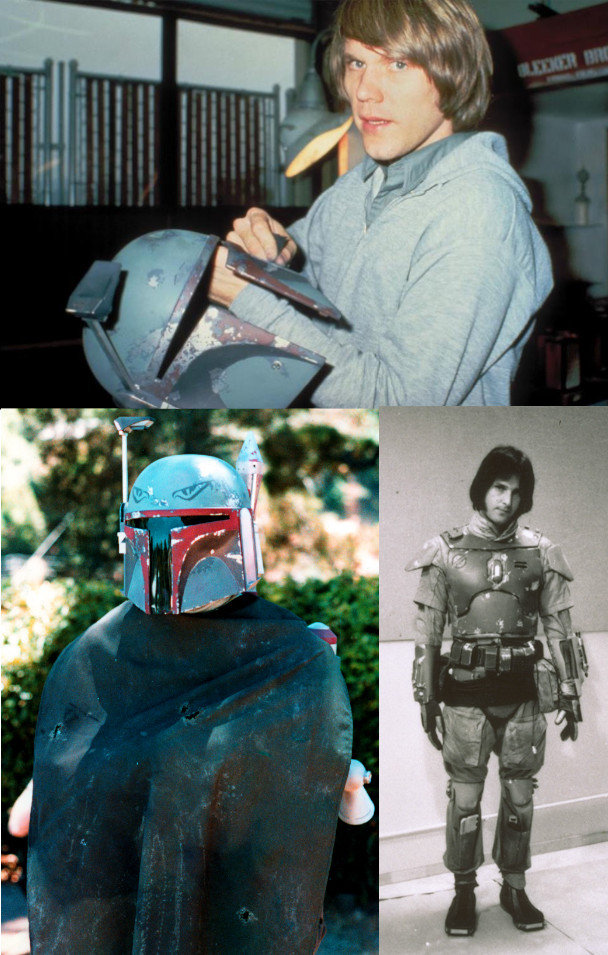 Joe Johnston's initial painted prototype costume for Boba Fett - via The Star Wars Collectors Archive