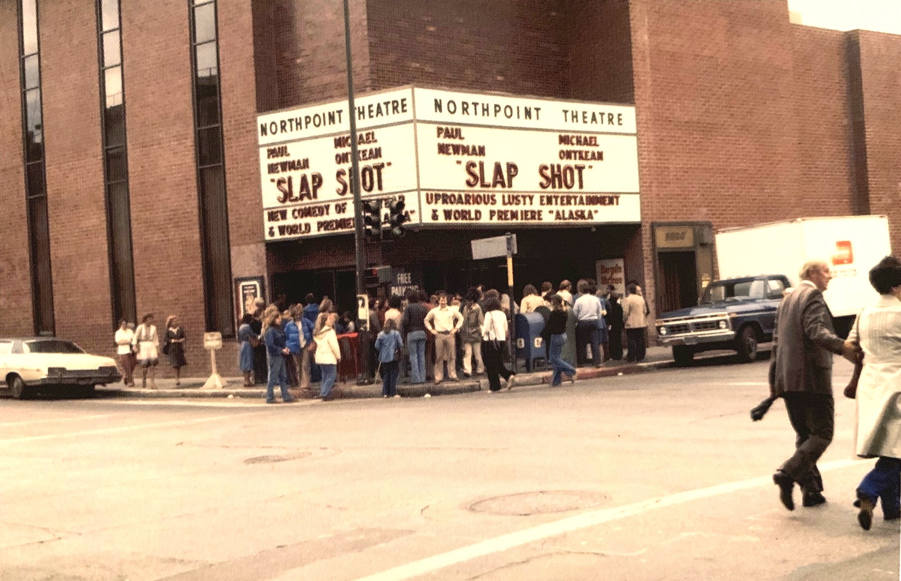 The first public preview of  Star Wars  at the Northpoint in San Francisco on May 1st. 1977, under the guise of  Alaska .