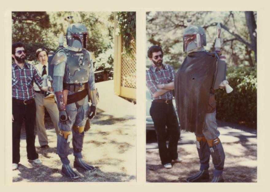 Summer 1978 Kenner photo shoot of Boba Fett at Skywalker Ranch - via The Star Wars Collectors Archive