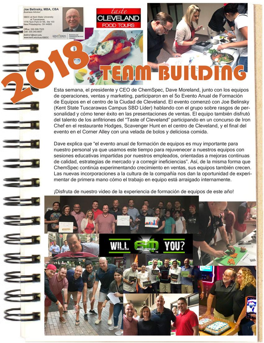 ChemSpec 2018 Team Building Event