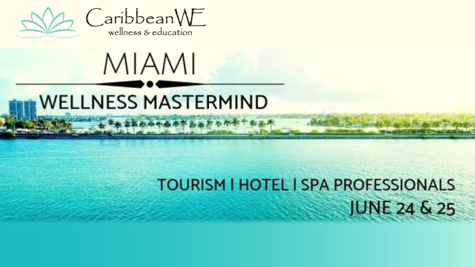 """""""Purposeful Design: The Prerequisite for Wellness"""" - Speaker: EcoChi President & Founder Debra Duneier. Monday June 24th, 2019 at 1:00pm-1:30pm- At Hyatt Regency Miami - Caribbean WE in partnership with SpaHive, presents a high-profile panel of wellness speakers discussing how to capture the high-yield 'Wellness Traveler'."""