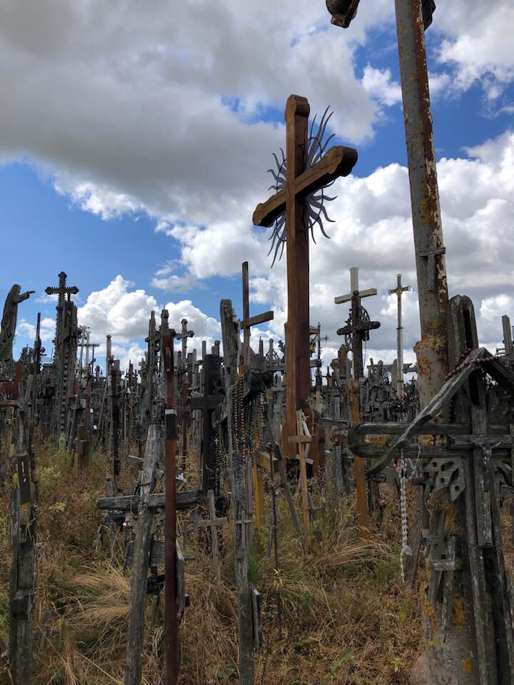 The Hill of Crosses. Riga, Lithuania, by Andrea Kinnard
