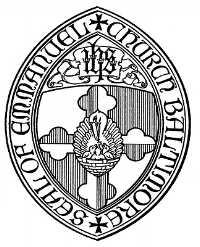 The seal of Emmanuel features a mother pelican feeding her young, symbolic of the nourishment we receive from Jesus' love.