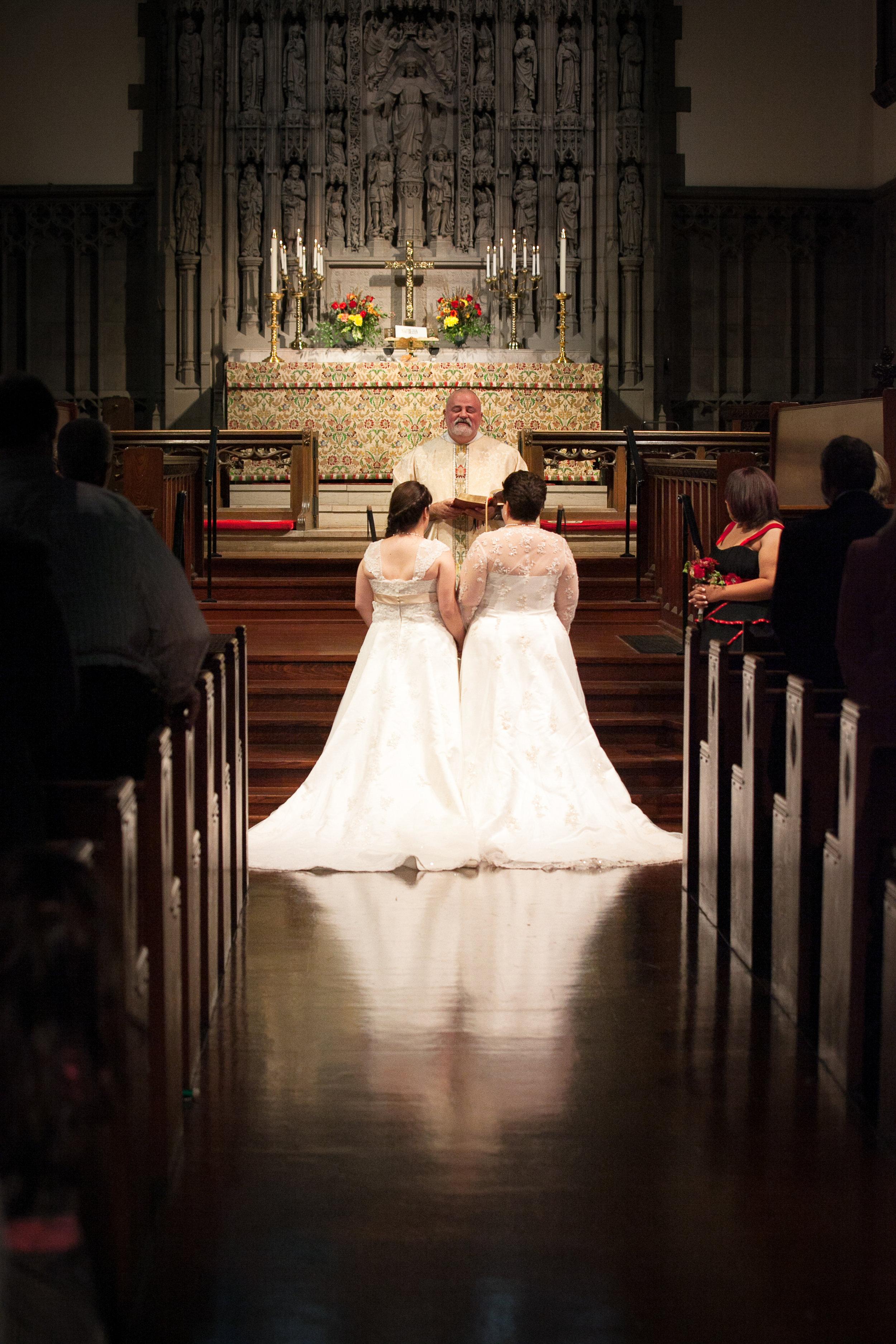 A wedding in Emmanuel's magnificent sanctuary.