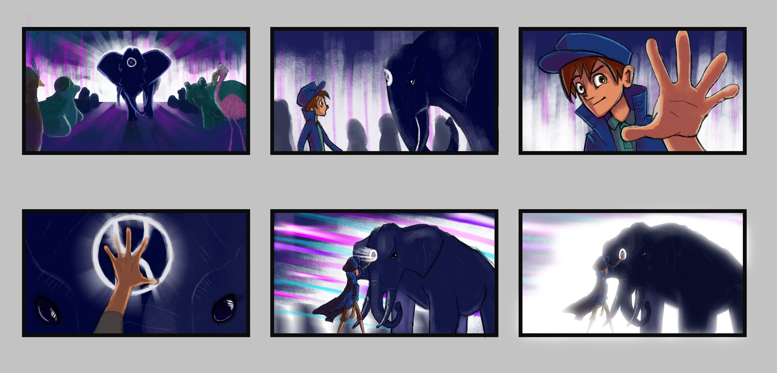 Sample storyboard concepts