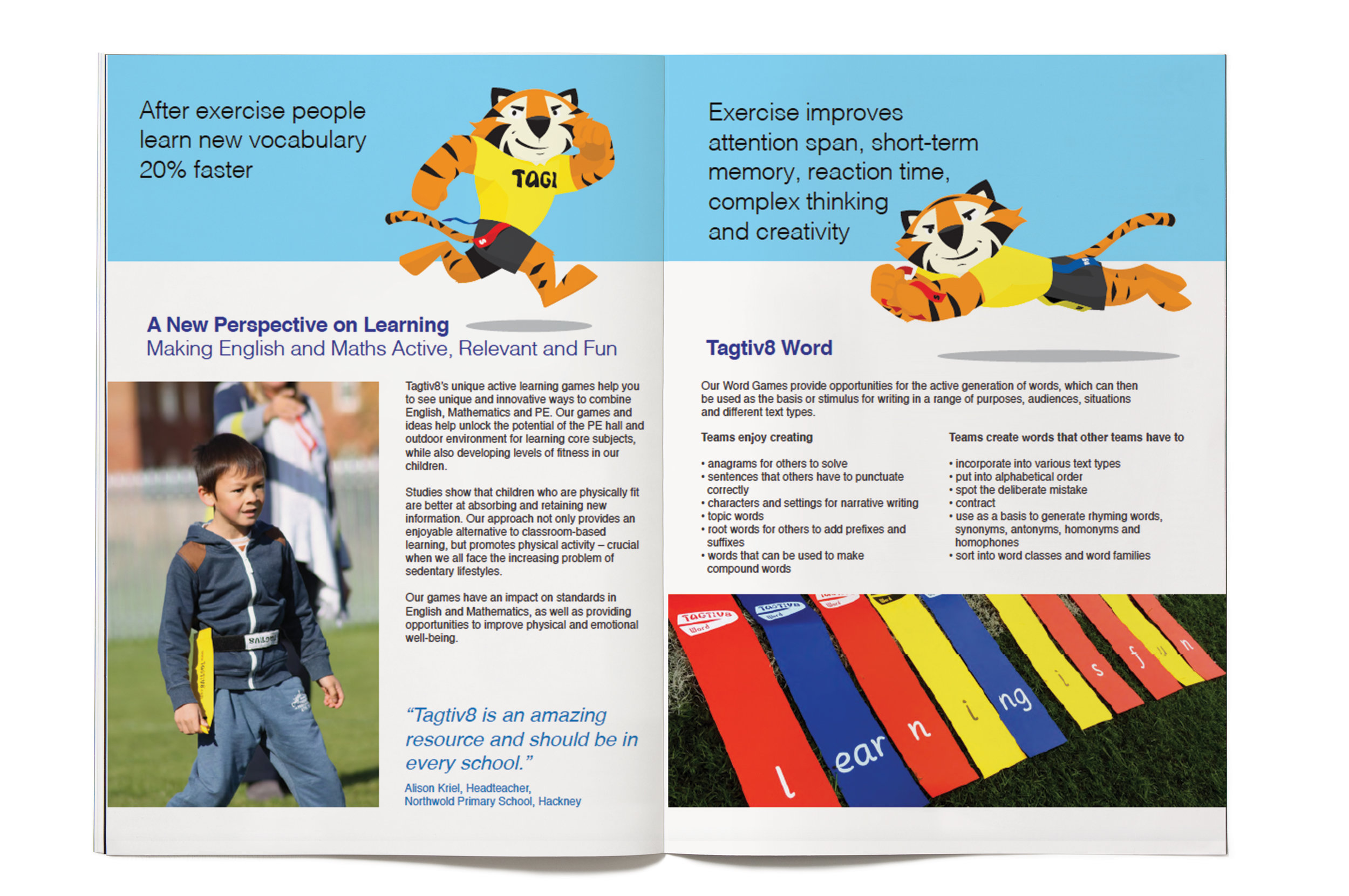 Brochure design for Tagtiv8