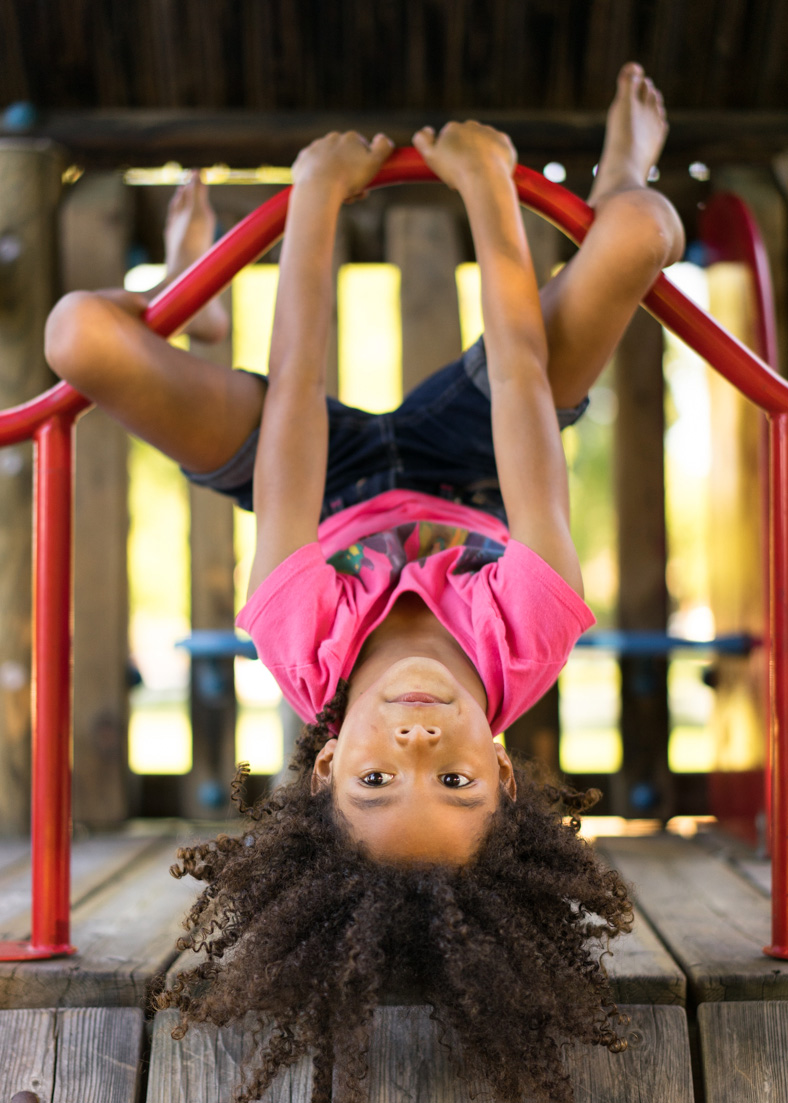daughter upside down at the park-SF East Bay photographer