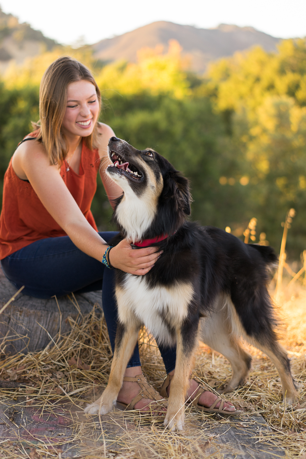 girl with dog-Danville lifestyle photography
