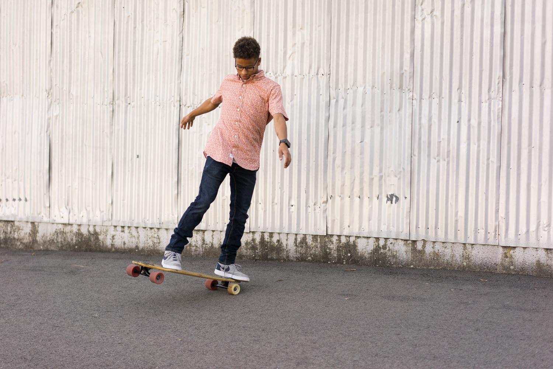 high school senior riding skateboard-San Ramon Valley High School photograph