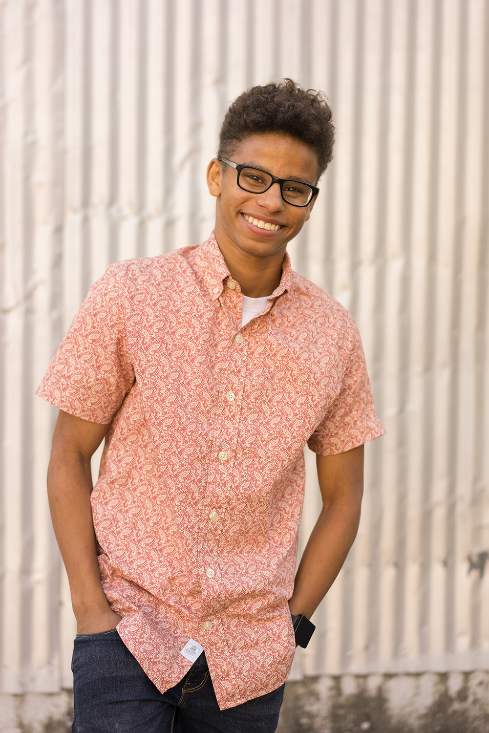 teen boy smiling at camera-San Ramon senior photography