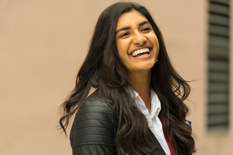 high school senior laughing-SF East Bay photographer