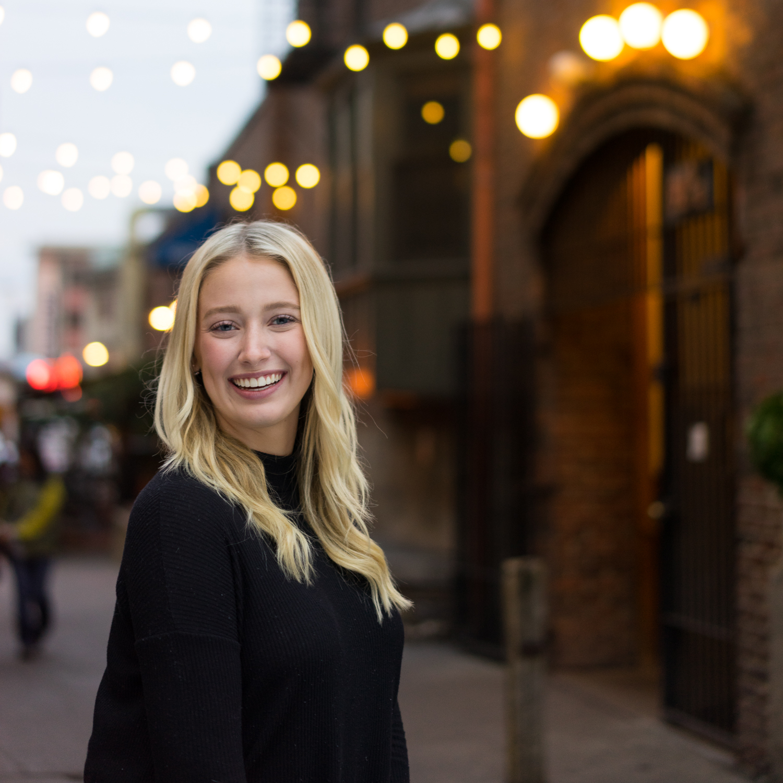 smiling high school senior at dusk-SF East Bay photographer