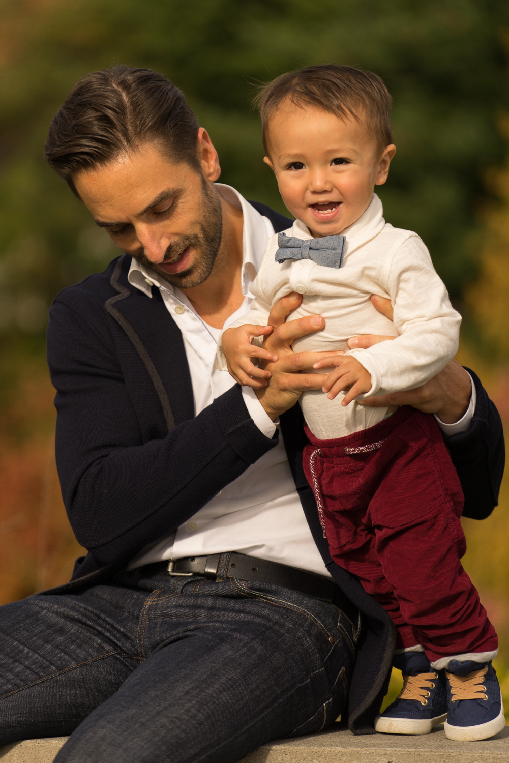 father and son playing-San Francisco East Bay family photographer