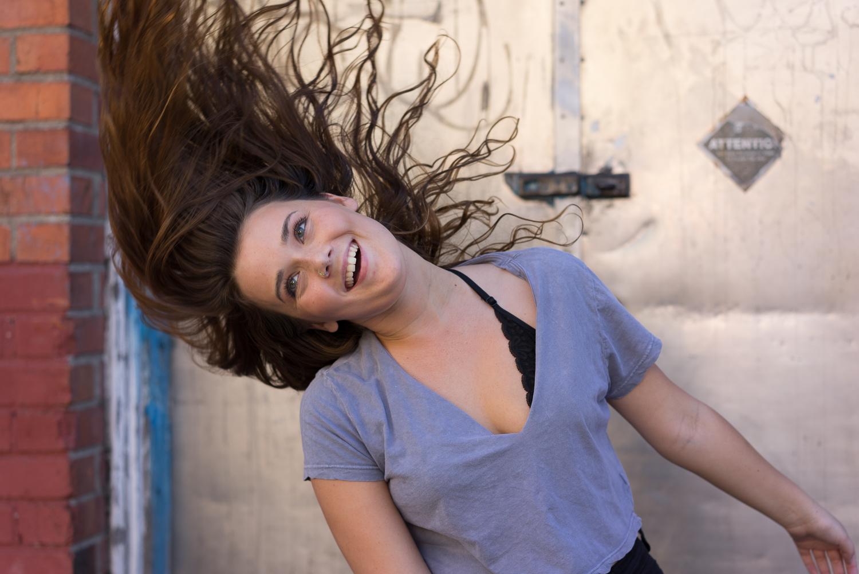 teen girl hair flip - San Francisco senior photographer