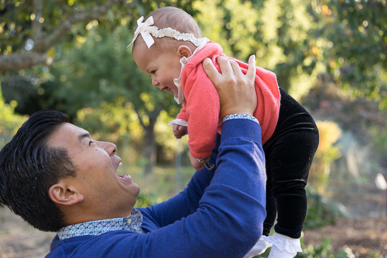 Dad with baby girl - San Ramon family photography