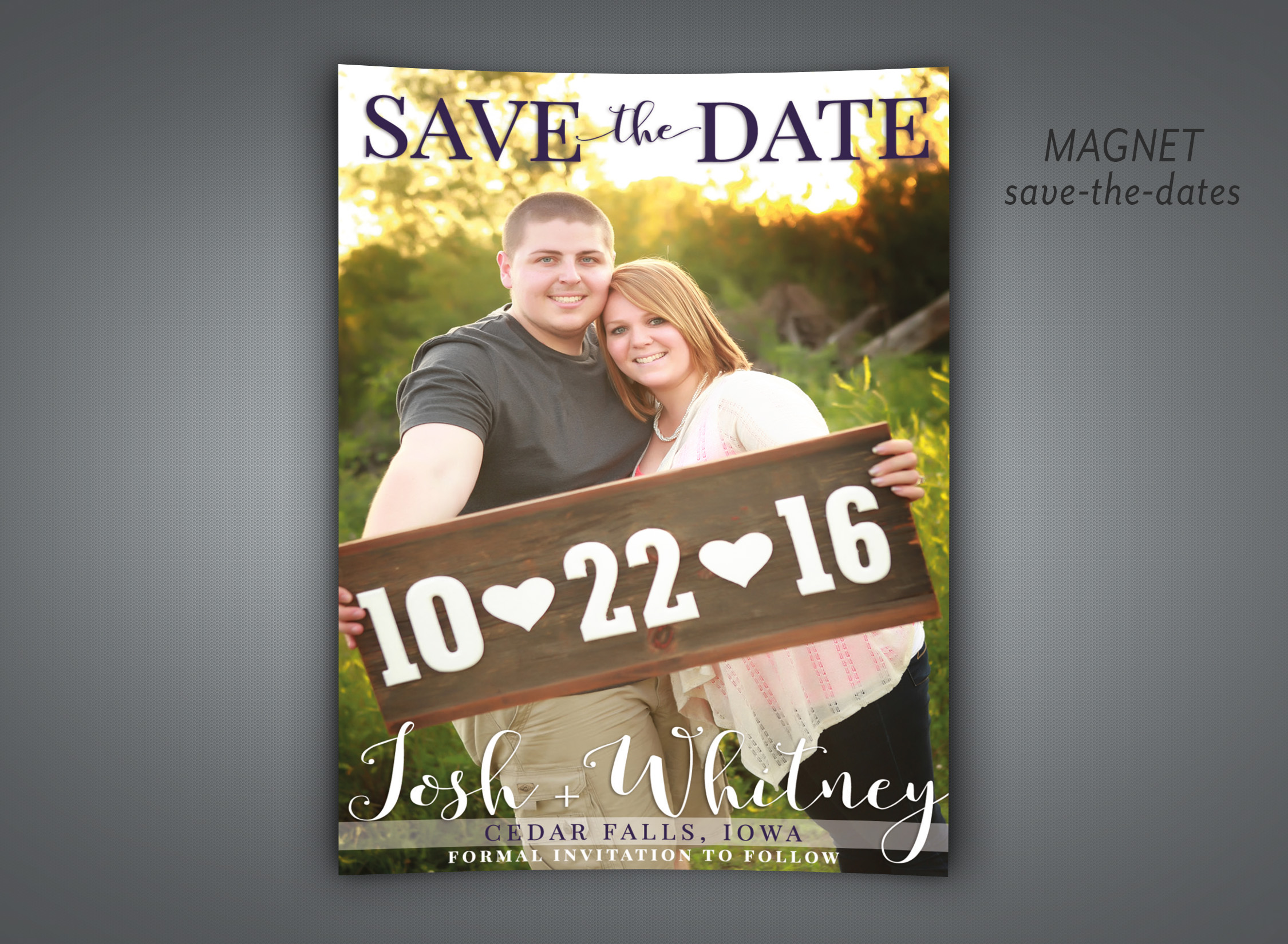 Magnet save-the-dates