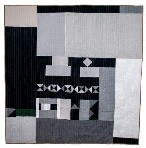 Back of the Grayscale Totality Quilt