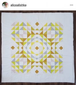 Yellow Totality Quilt by @alicealishka