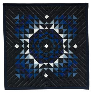 Mini version of Totality Quilt in Blue Gradient – Solar Variation