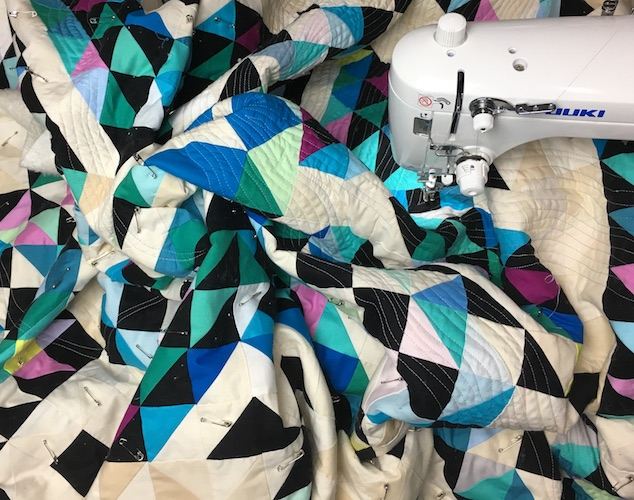 Quilting progress on Fort Snozzberry