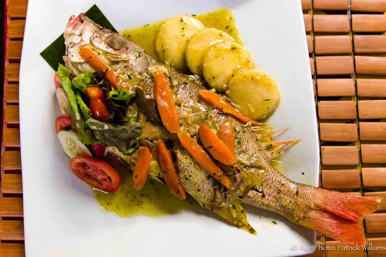 Jamaican Rundown Snapper Fish with Bammy