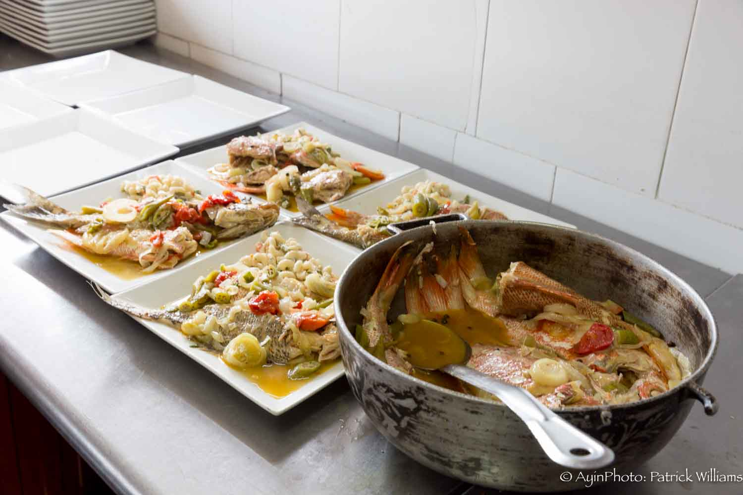 Jamaican Steam fish from the Dutchie