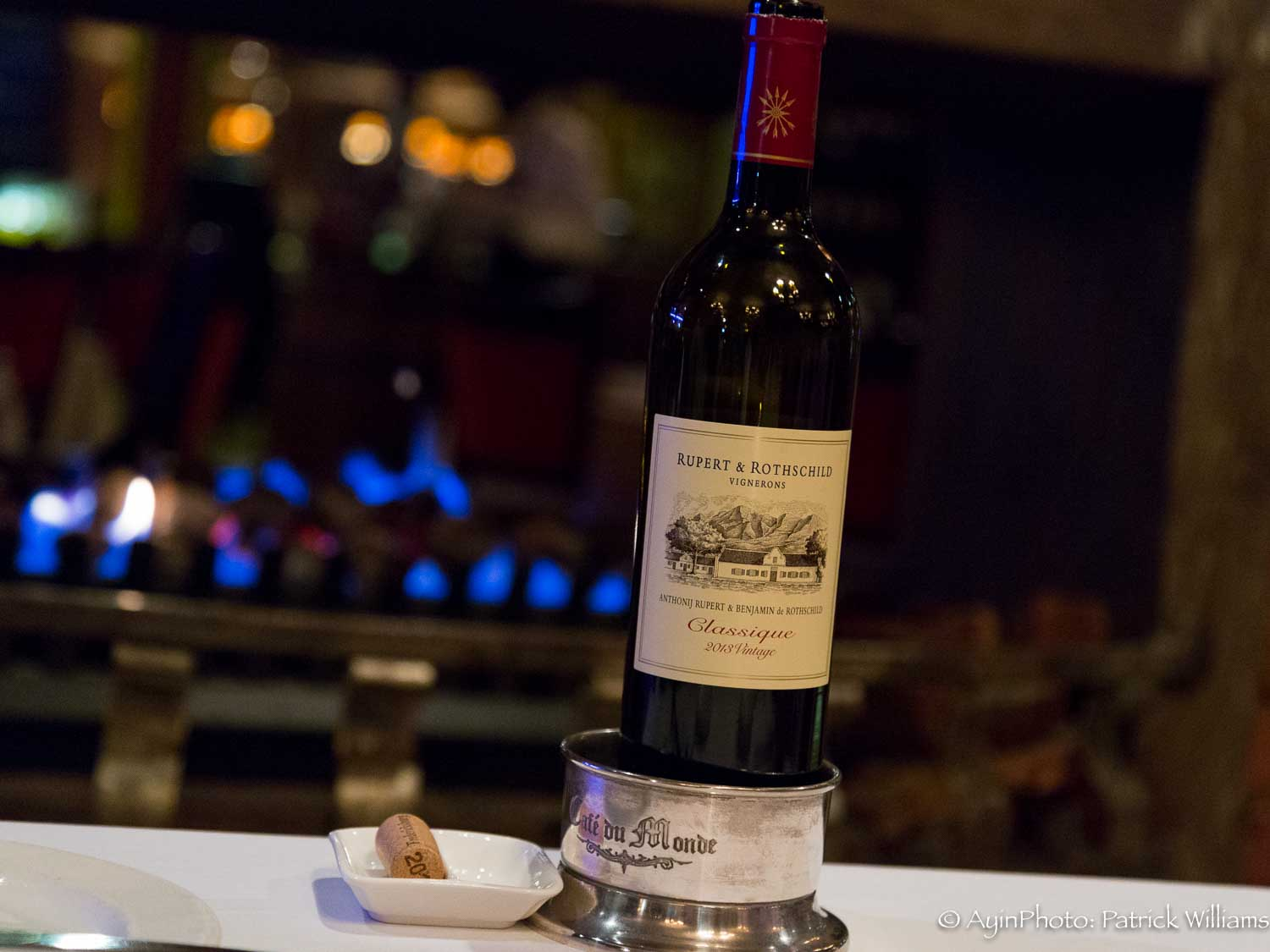 South Africa - Red Wine at Fireplace