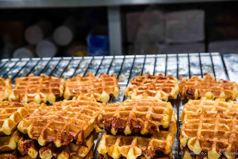 Belgian Waffles freshly baked