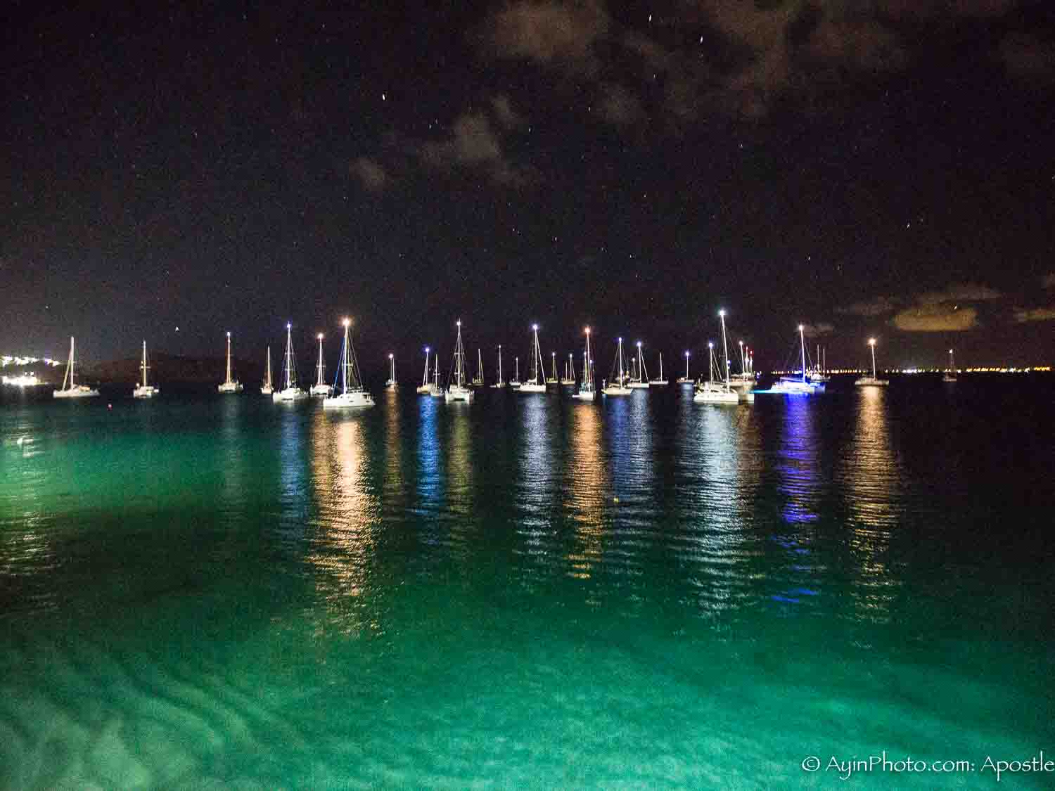 St Martin Harbour Night