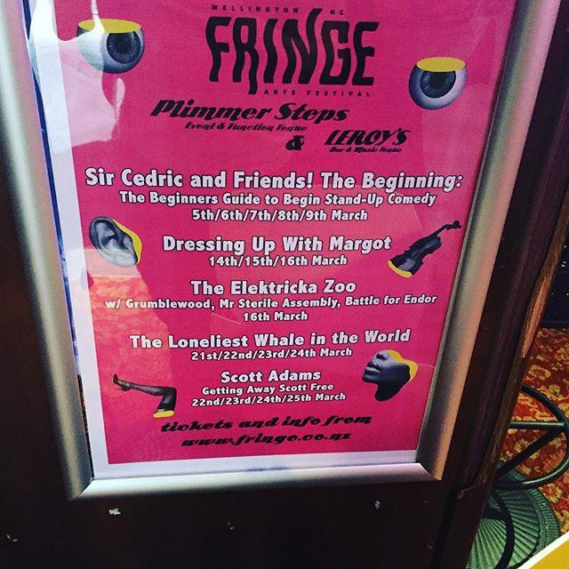 It's on, on like Donkey Kong! This week @nzfringe Thurs/Fri/Sat/Sun 8pm #LeroysBar #Pilmmerssteps #Wellington #comedy #standup #NewZealand #Fringecomedy #Fringefestival $15