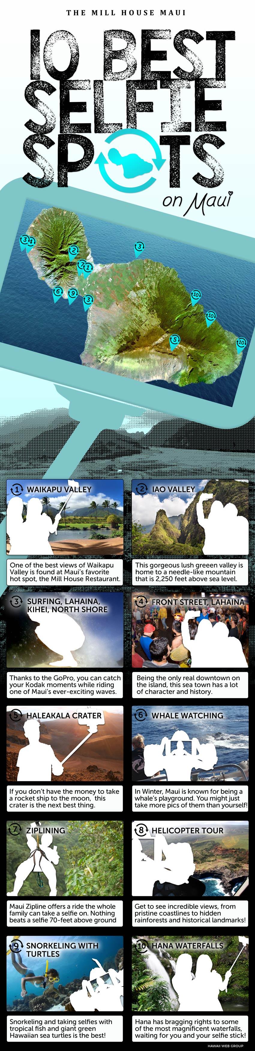 maui 10 best selfie spots infographic