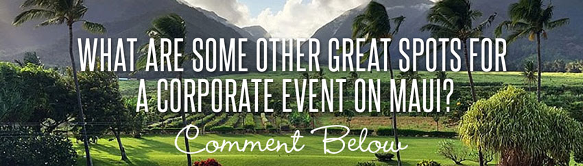 what are some other great spots for a corporate event on maui? comment below!