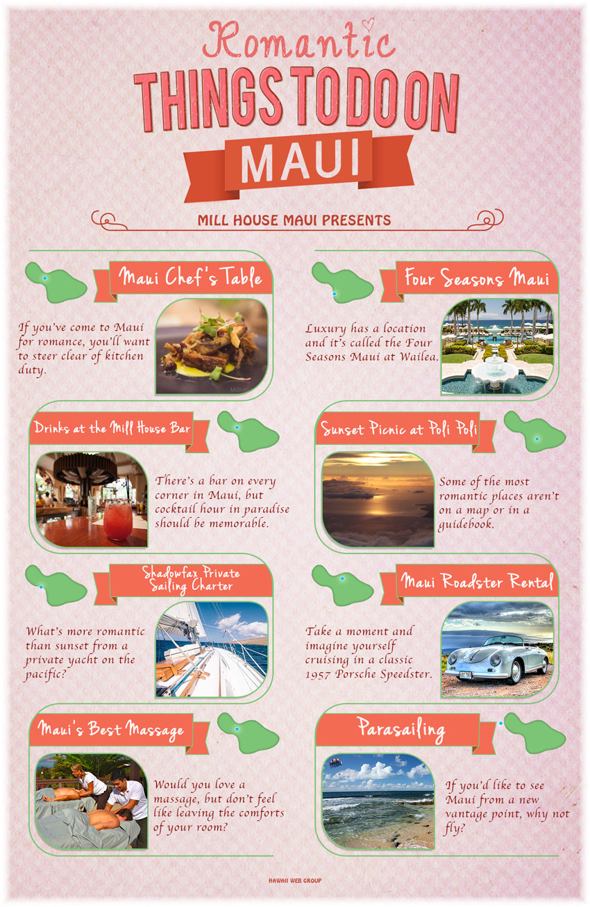 best romantic activities on maui infographic