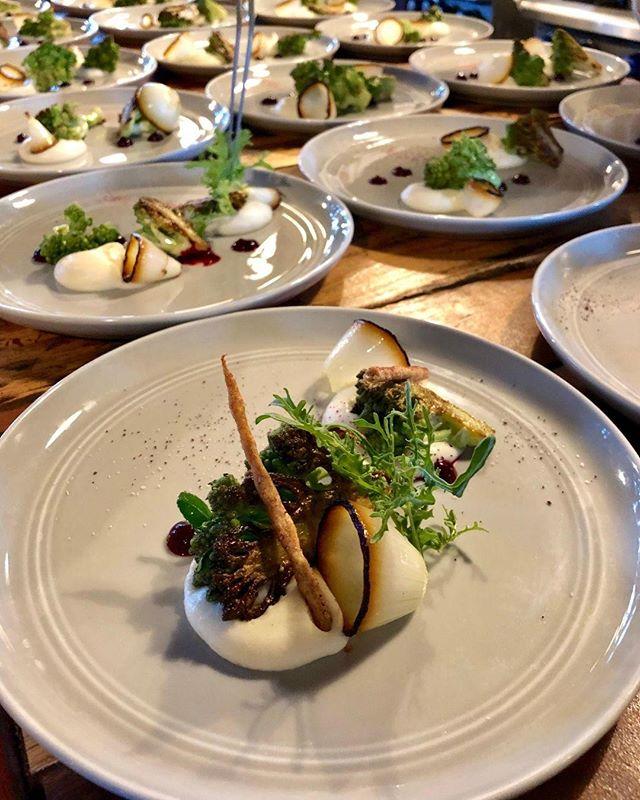 Parsnip, Beet, Sweet Onion, Romanesco, Basil, Grissini.  #mauichefstable #mauichef #chefstable #cheflife #mauidining #maui #mauieats #hawaii #gohawaii #visitmaui #farmtotable #diningmaui #tastingmenu