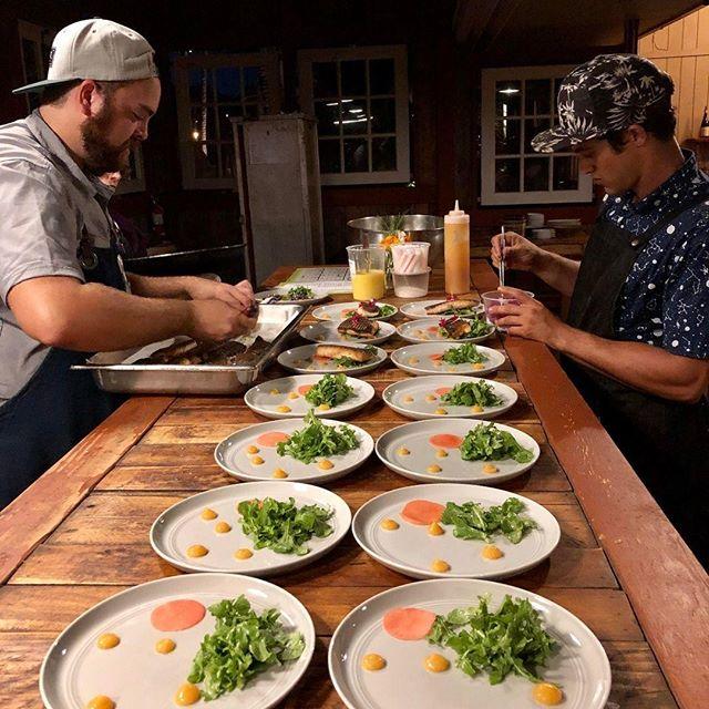 Teamwork makes the dream work.  #mauichefstable #chefstable #cheflife #chef #mauichef #diningmaui #tastingmenu #mauitropicalplantation #teamwork