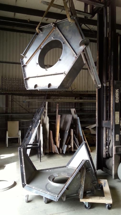 Steel Mold for Concrete Isamu Noguchi Sculpture located at 1301 Peachtree Atlanta, GA