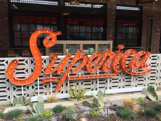 Marquee Sign, Superica Resturant, Atlanta, Georgia