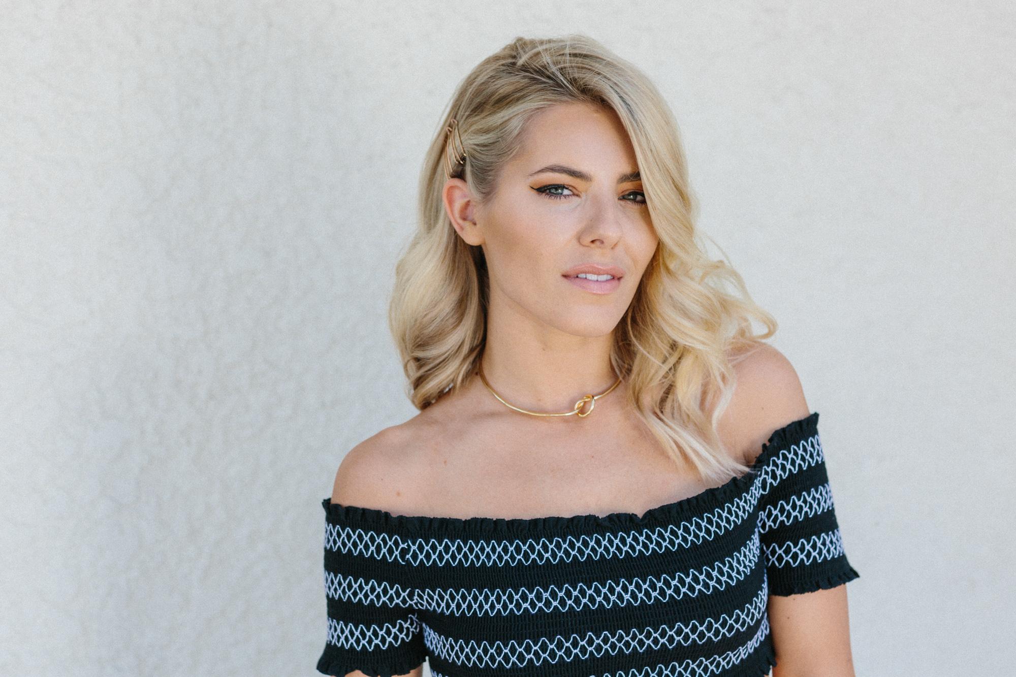 Mollie King / Coachella x ghd hair
