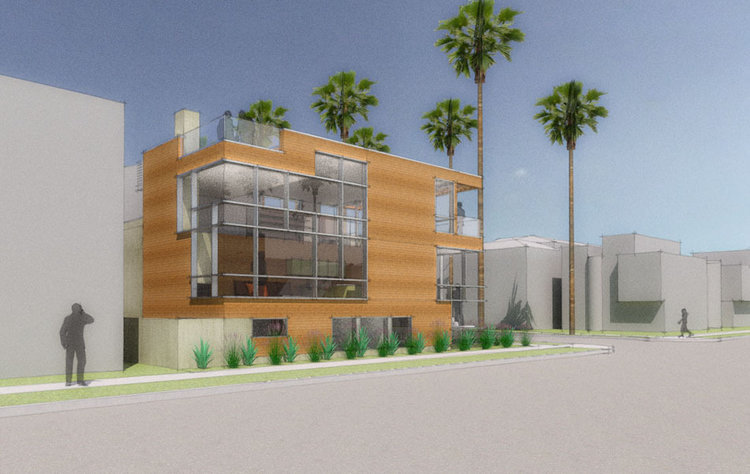 Goldenrod Rendering Orange County - Corona del Mar Newport Beach custom home  residential contemporary modern design
