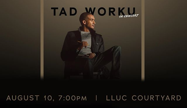 TONIGHT 7PM | COURTYARD you don't want to miss this amazing concert with our very own TAD WORKU and his team of award winning musicians. Free admission, bring a friend out and enjoy his story and original music from Tad's lates album.