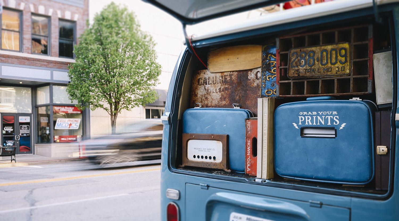 The Shutter Bus in Downtown Joplin Missouri