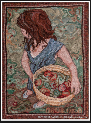 A beautiful rug by Rachelle LeBlanc.  A great example of hooking figures as well as using a picture.  https://rachelleleblanc.wordpress.com/